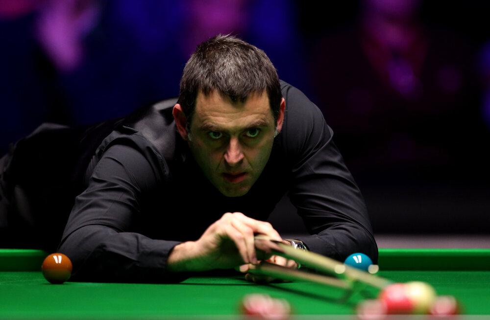 Snuukriäss Ronnie O'Sullivan jõudis mainekal turniiril poolfinaali, nelja parema hulgas ka valitsev maailmameister
