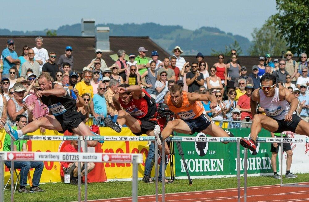 Maicel Uibo (paremalt teine) tegi Götzises kvalitatiivse hüppe, Karel Tilga (vasakul) tõusis pildile.