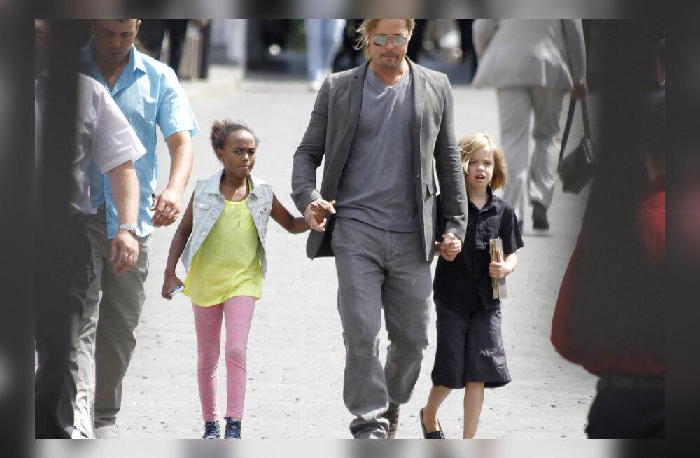 Brad Pitt ja Angelina Jolie kinkisid tütrele isikliku uisupargi