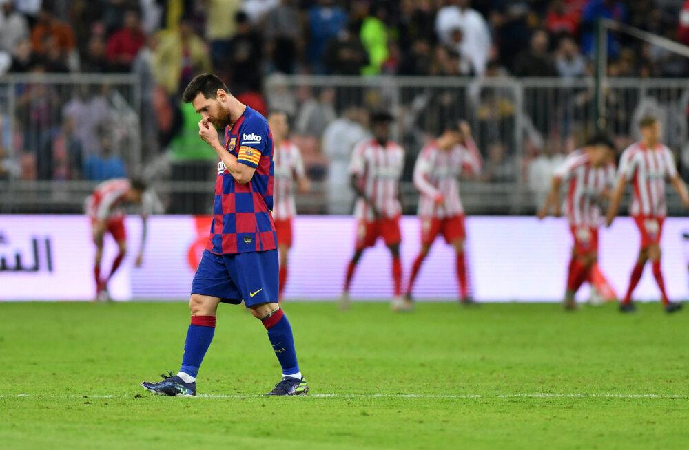 Lionel Messi võidu maha mänginud Barcelonast: tegime lapsikuid vigu