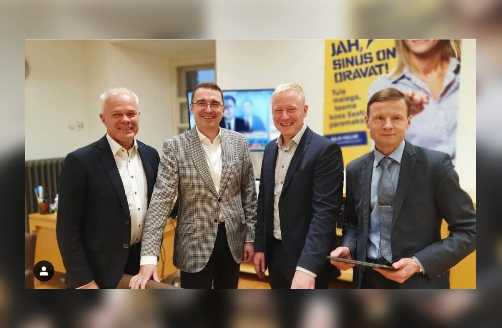 Toomas Kivimägi, Andres Sutt, Mart Võrklaev ja Aivar Sõerd