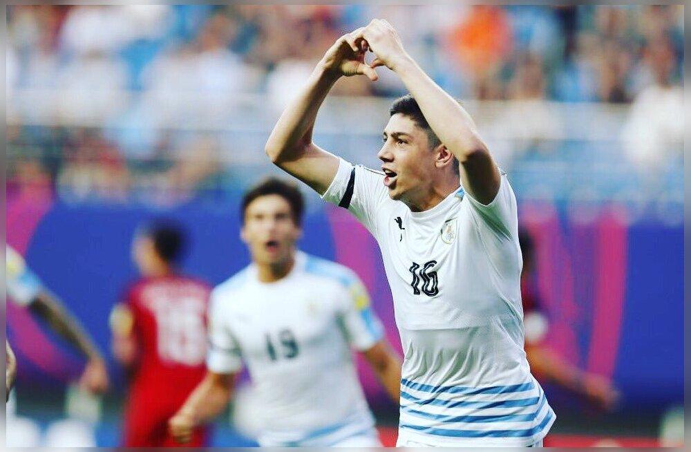 FOTO: Real Madridi noormängija sai U20 MMil hakkama rassistliku väravatähistusega