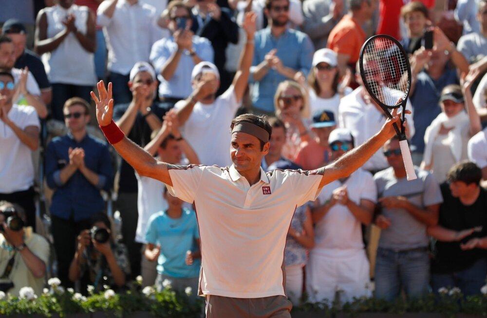Vanameister Roger Federer püstitab rekordeid.