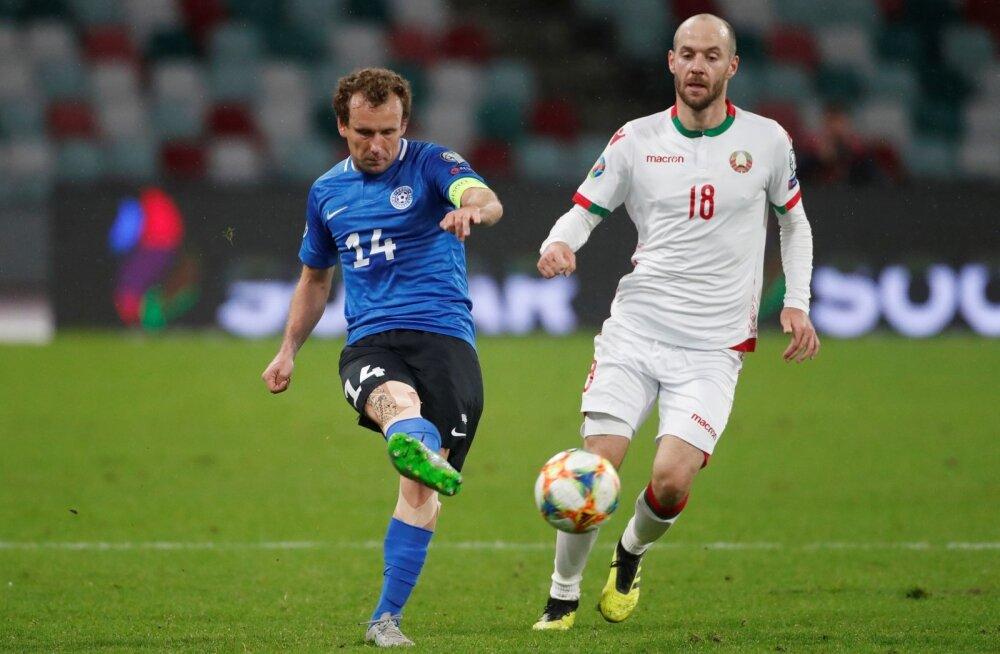 Konstantin Vassiljev mängus Valgevene vastu.
