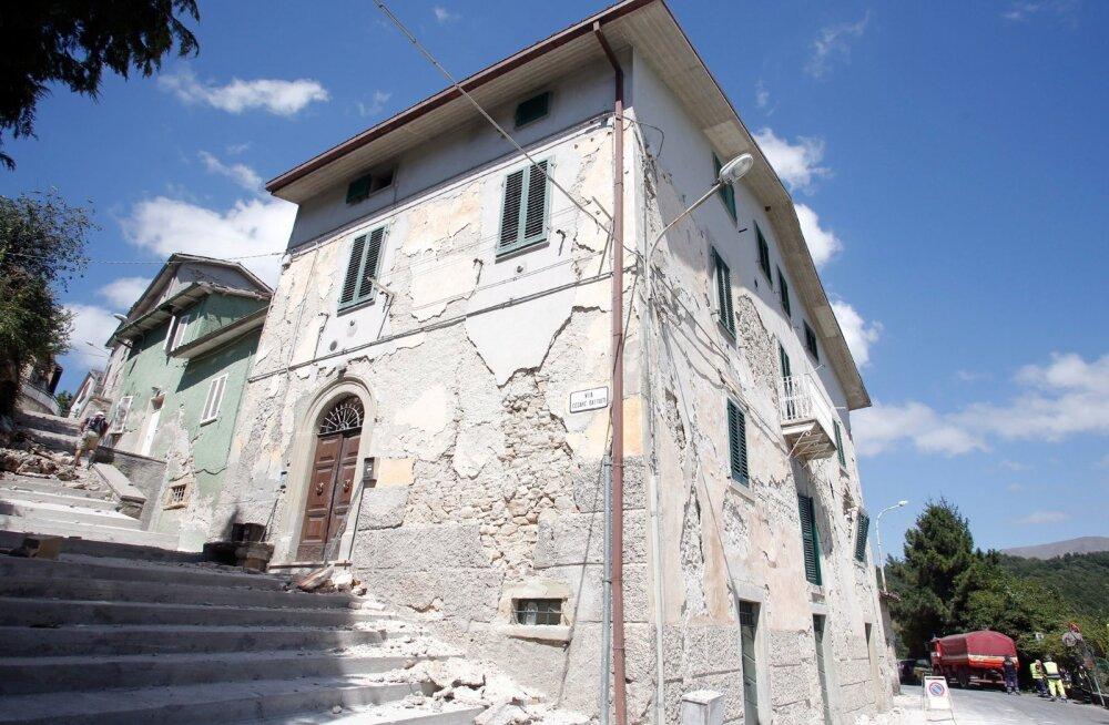 Itaalia keskosa tabas kolm tugevat maavärinat