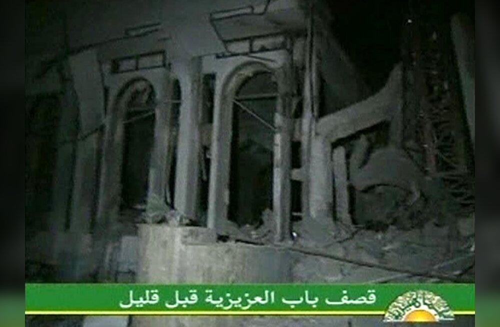 NATO õhurünnak tabas Gaddafi hoonetekompleksi
