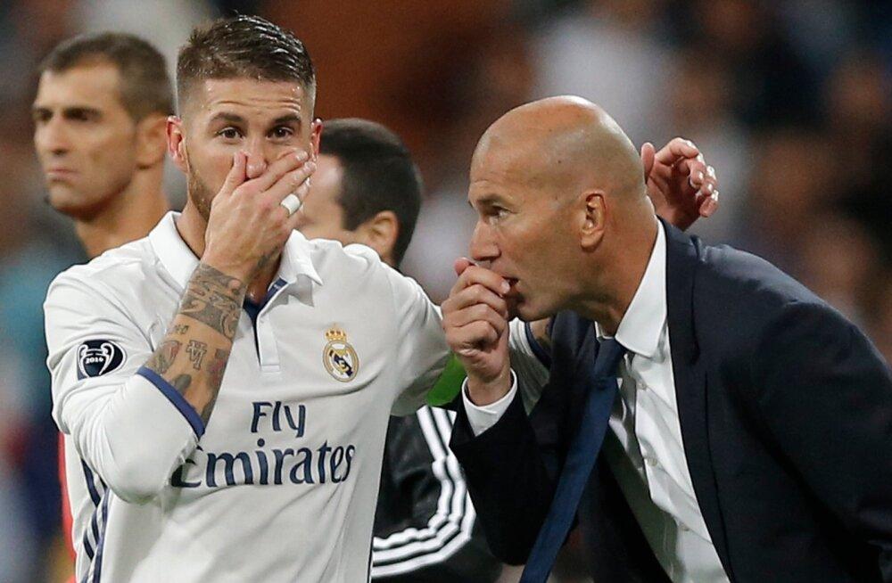 Reali kapten Sergio Ramos ja peatreener Zinedine Zidane on teinud edukat koostööd.