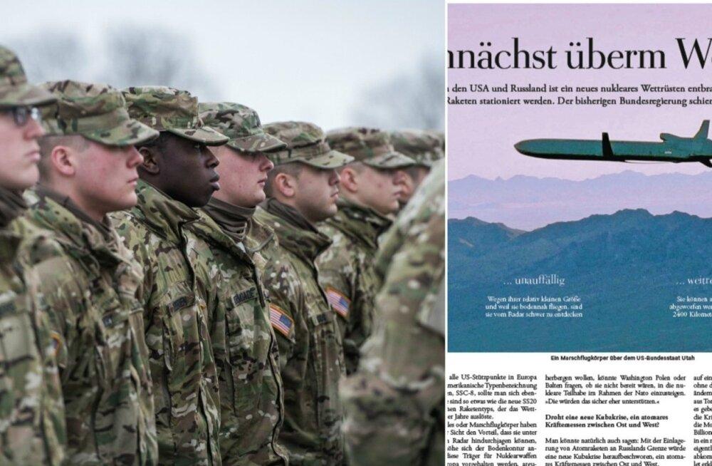 Немецкая газета: США могут планировать доставку ядерного оружия в страны Балтии