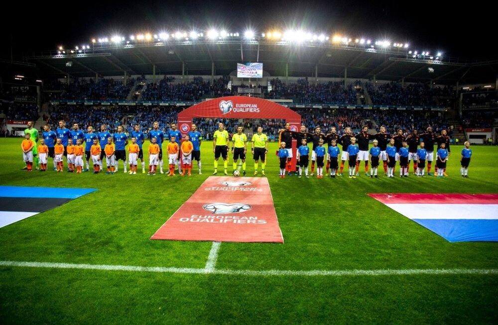 Футболисты сборной Эстонии узнали соперников в Лиге наций УЕФА