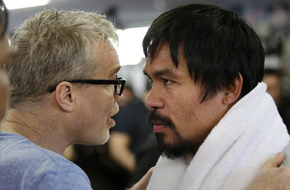 Treener: Pacquiao võidab Mayweatherit ka üks käsi selja taga!