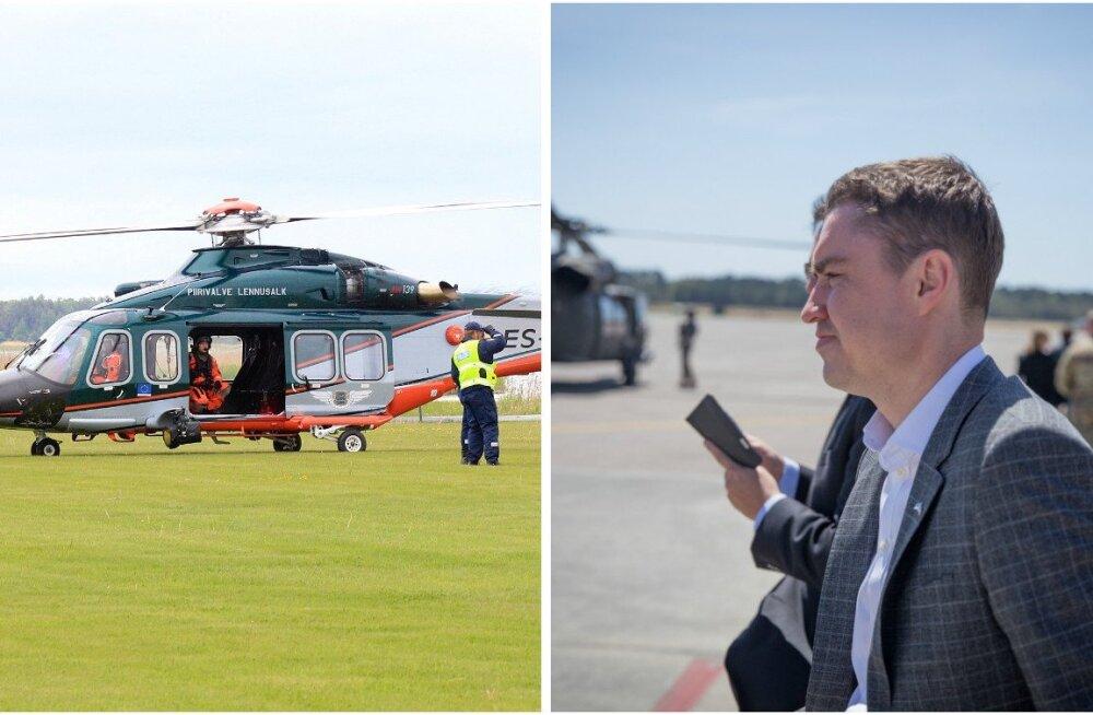 Рыйвас использовал вертолет полиции и погранохраны для полета в Финляндию