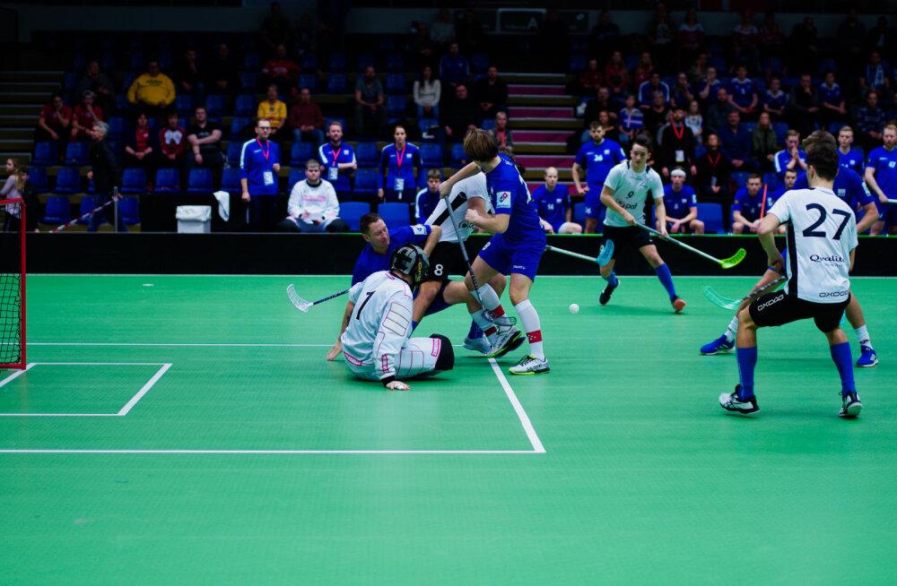 TÄISPIKKUSES   Eesti saalihokikoondis mängis valusal moel MM-finaalturniiri pileti maha