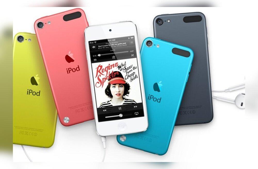 Apple tutvustas iPod nano ja Touchi meediapleierite järgmist põlvkonda