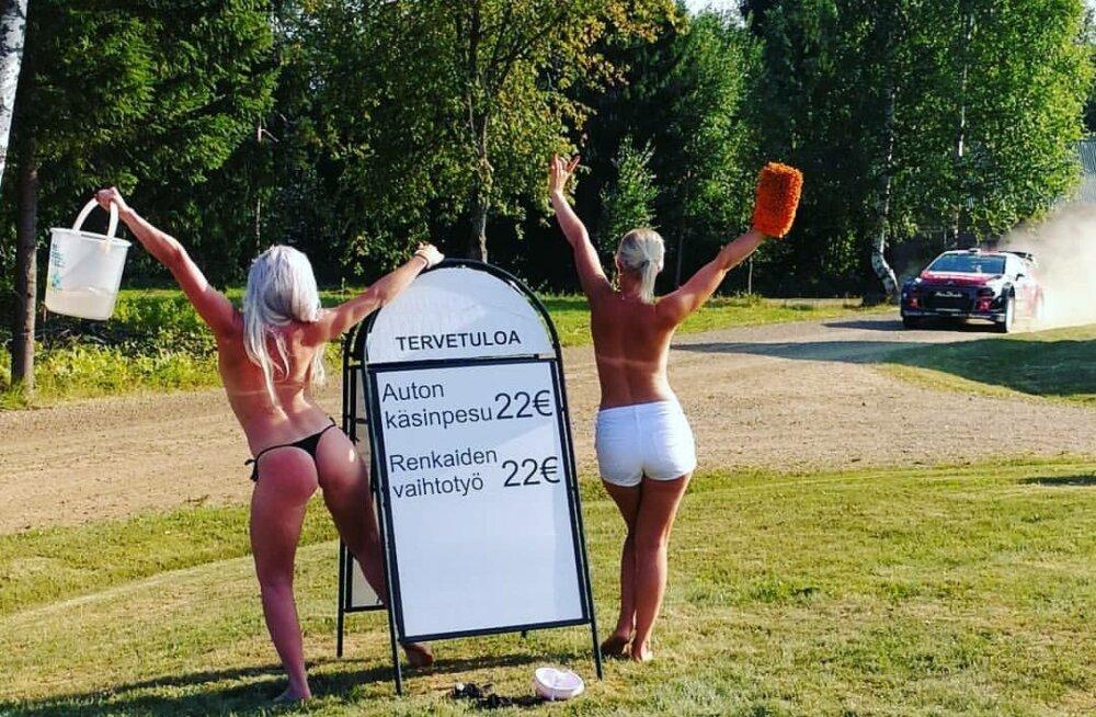 FOTO | Traditsioon jätkub! Tänakut jahtivat norralast kimbutasid Soome rallil taas poolpaljad tüdrukud