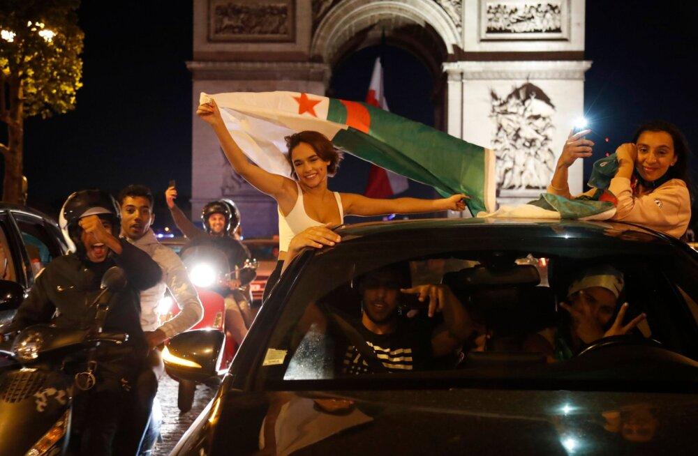VIDEO | Pidu läks käest: Prantsusmaal vahistati Alžeeria koondise triumfi järel 282 inimest