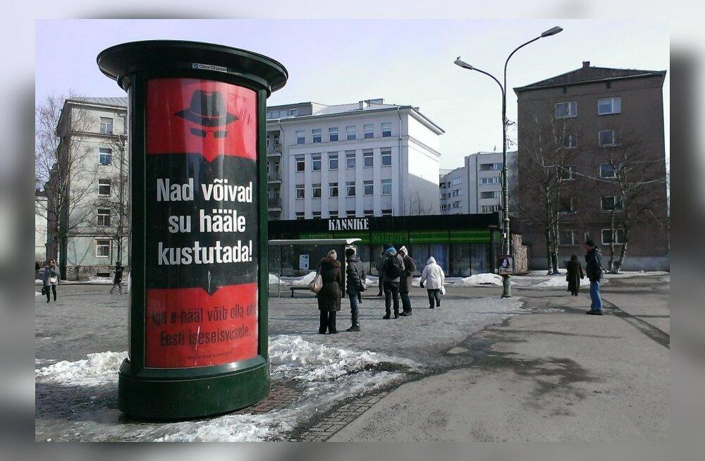 E-hääletuse eest hoiatavad MTÜ Ausad Valimised reklaamid
