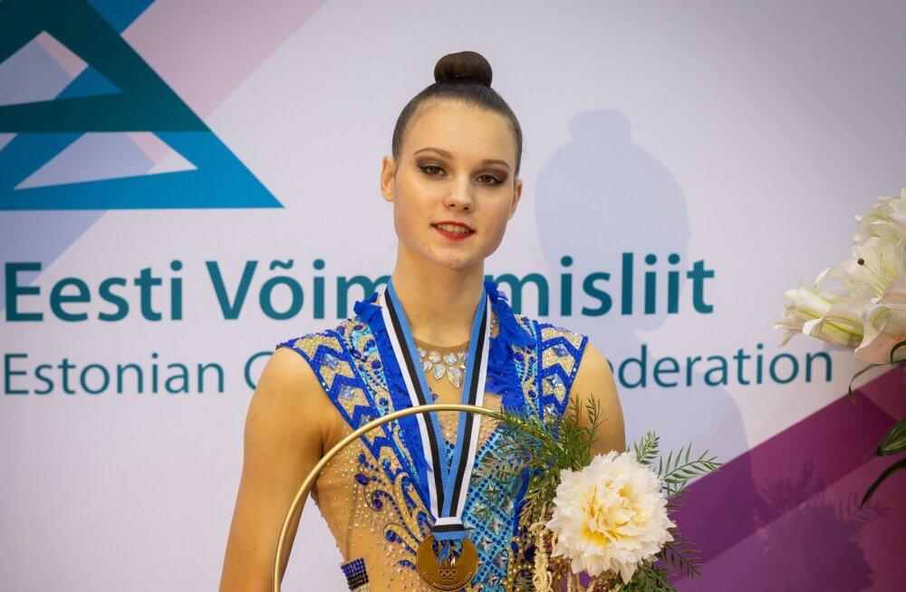 Iluvõimlemise Eesti absoluutmeistriks krooniti Adelina Beljajeva
