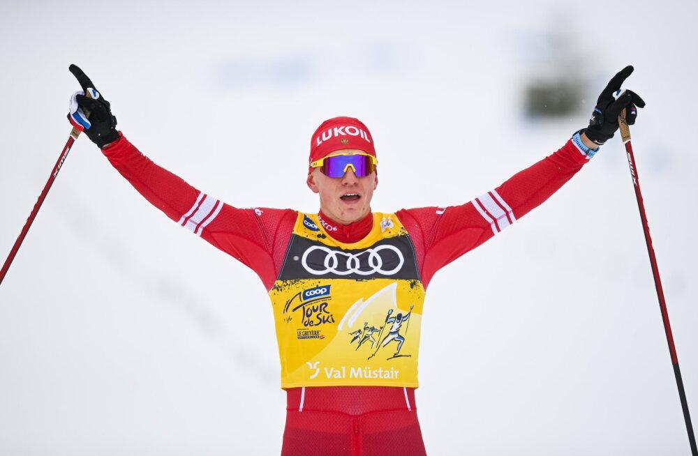 Bolšunov võidutses Tour de Ski kolmandal etapil uhkes üksinduses