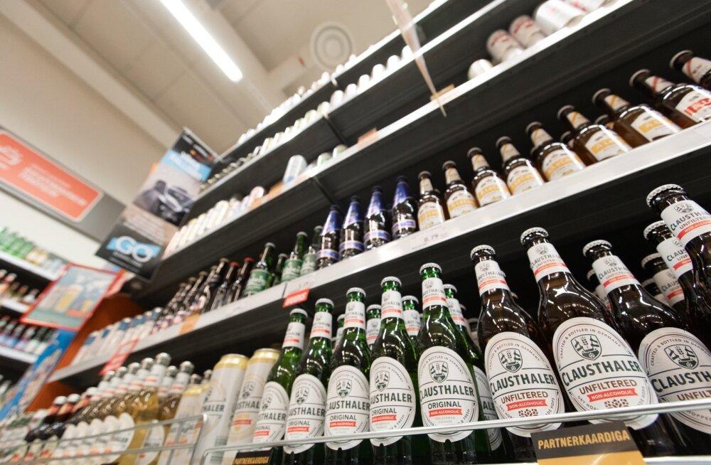 Alkoholivaba õlle ja siidri riiul selveris
