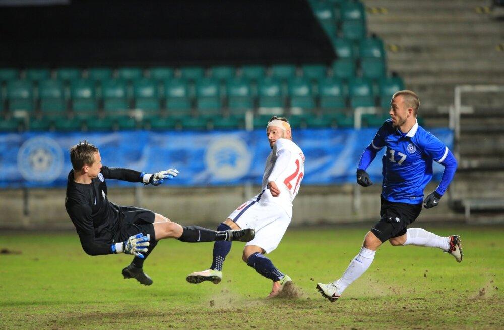 FOTOD: Eesti jalgpallikoondis tegi aasta esimeses kodumängus väravateta viigi Norraga