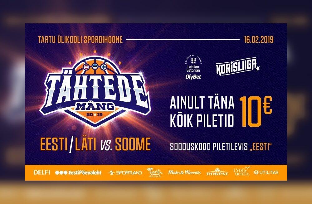 81adefc4996 Täna kõik Tähtede Mängu piletid 10€ - Sport