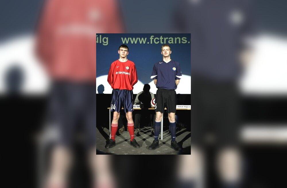Võistkondade mängurõivastuse esitlus. Pildil FC Narva Trans.
