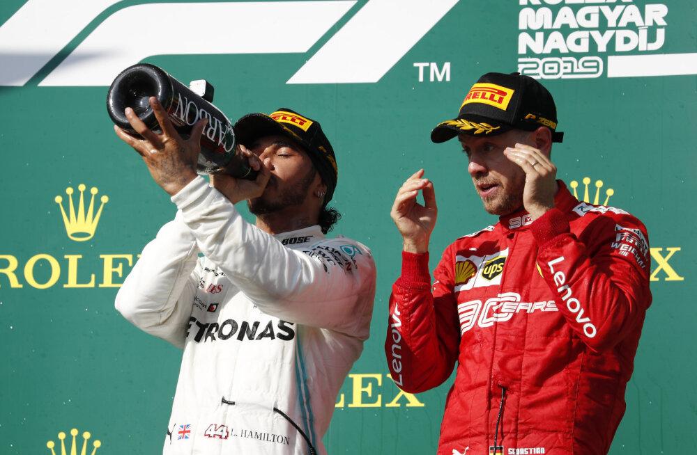 Hamilton ja Vettel