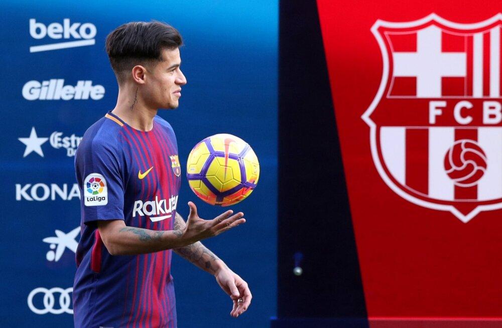 VIDEO | Coutinho tegi Barcelonaga esimest korda trenni, debüüdini läheb veel aega