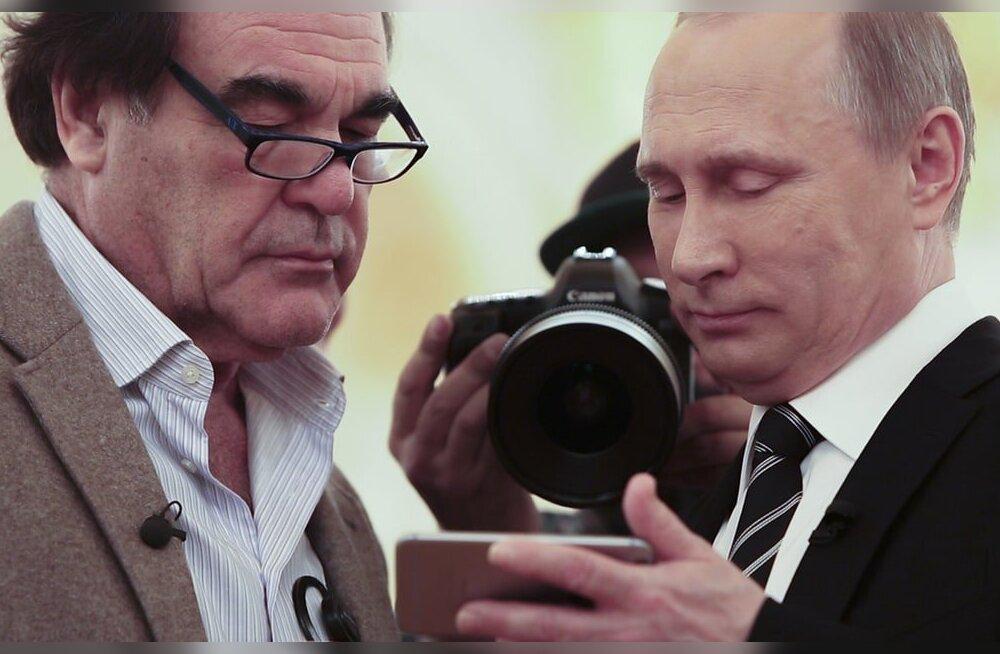 VIDEO | Putin näitas režissöör Oliver Stone´ile videot USA õhulöökidest ja ütles, et see on Vene õhujõudude tegevus Süürias