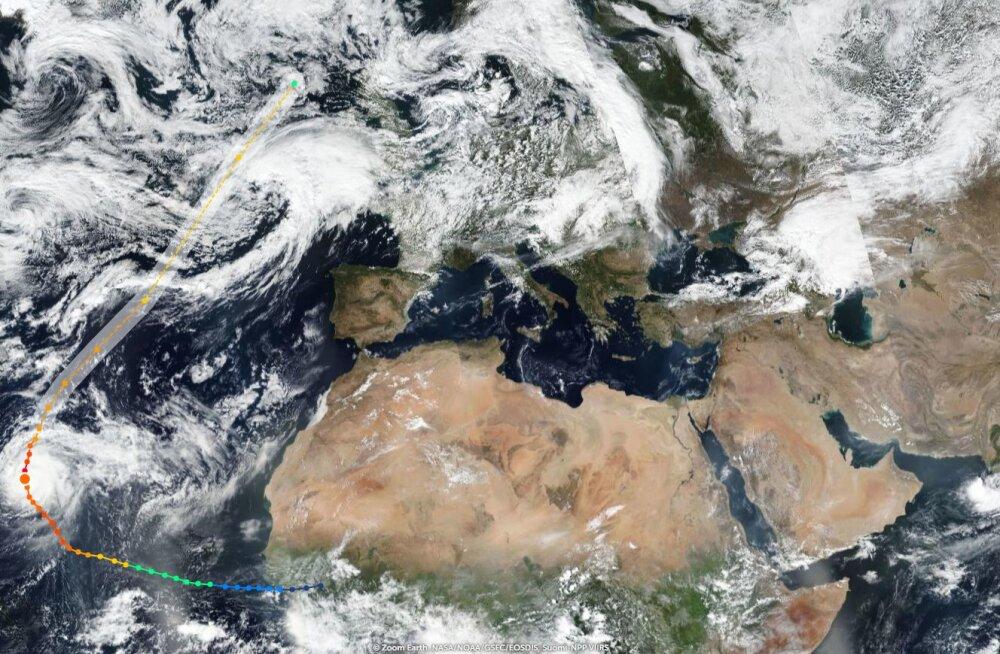 Euroopa ligidal tiirutav orkaan Lorenzo on võimsaim, mida siinkandis nähtud