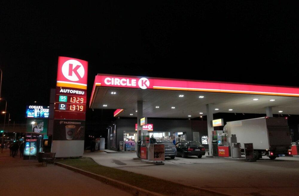 Kütusehinnad erinevates Tallina tanklates