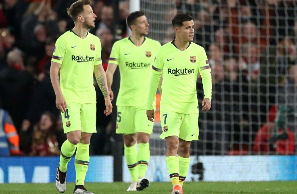 Ivan Rakitic (vasakul) ja Philippe Coutinho on väidetavalt FC Barcelonast lahkumas.