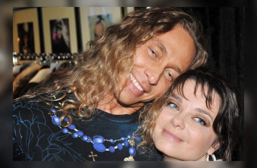 Natasha Korolyova with husband Sergei Glushko