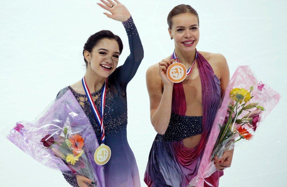 Evgenia Medvedeva ja Anna Pogorilaya