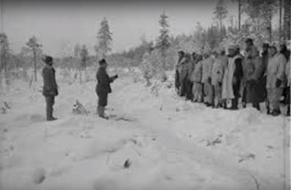 Soome kodusõda 1918: punaste pealik vihastas nurisenud eestlaste peale ja saatis nad rindelt minema, ainult Kukk ja Kivi jäid