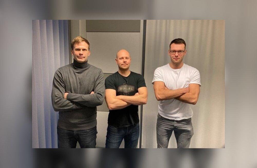 Kristjan Kais, Alar Rikberg ja Karl Rinaldo Tartu stuudios.