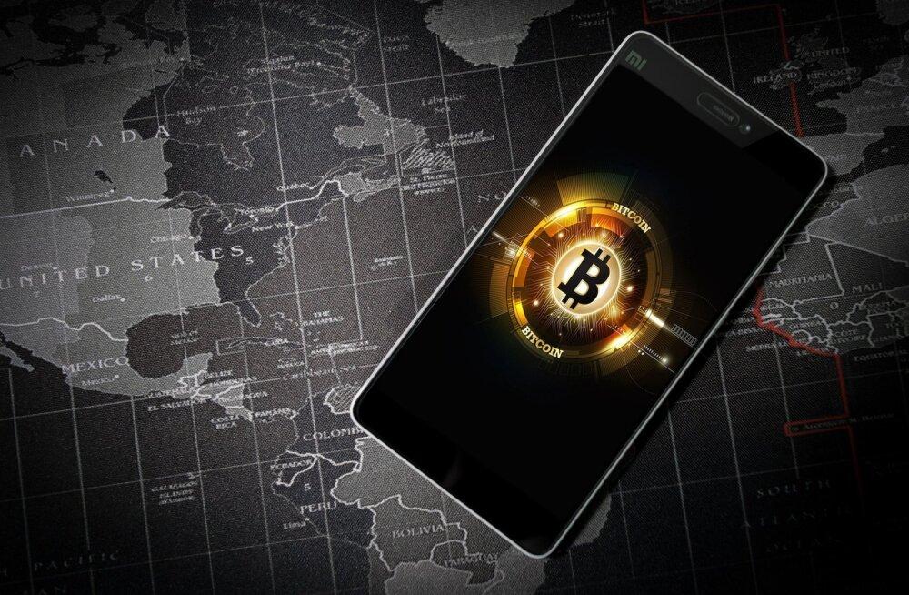 Bitcoin on kahe nädalaga tõusnud üle 1000 dollari