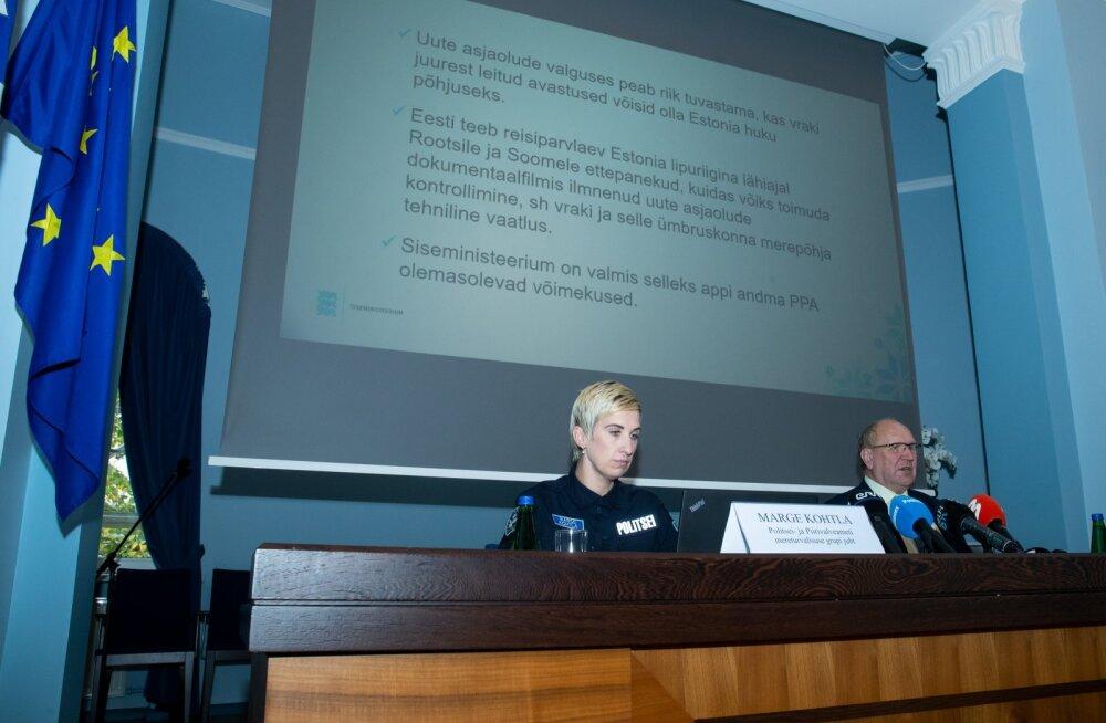Mart Helme tutvustas PPA tehnilist võimekust Estonia vraki vaatluseks 01.10.2020