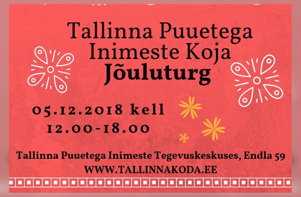 Tallinna Puuetega Inimeste Koda kutsub täna jõuluturule