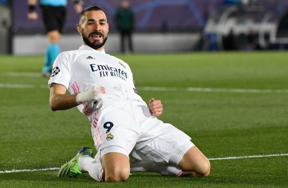 Karim Benzema sahistas taas Madridi Reali eest väravavõrke.