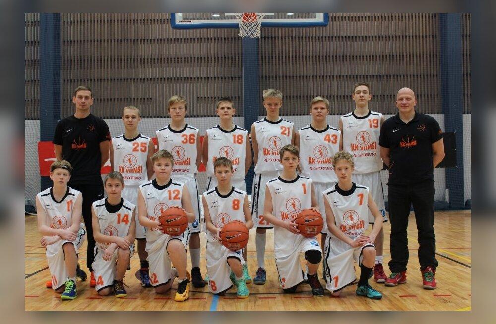 KK Viimsi U15 vanuseklassi noormehed EYBL-i etapil