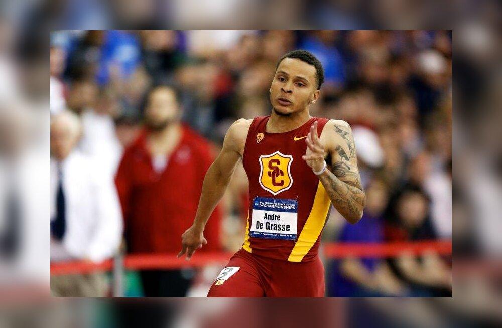 VIDEO: Kanada sprinter jooksis USA üliõpilasmeistrivõistlustel imeajad!