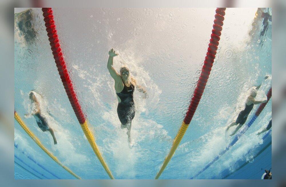Triin Aljand keskmisel rajal, ujumine