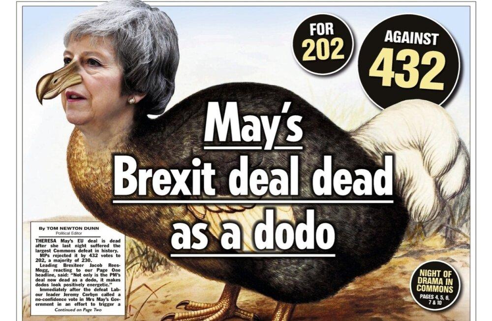FOTOD | Tänased Briti ajalehed peaminister Mayle armu ei anna