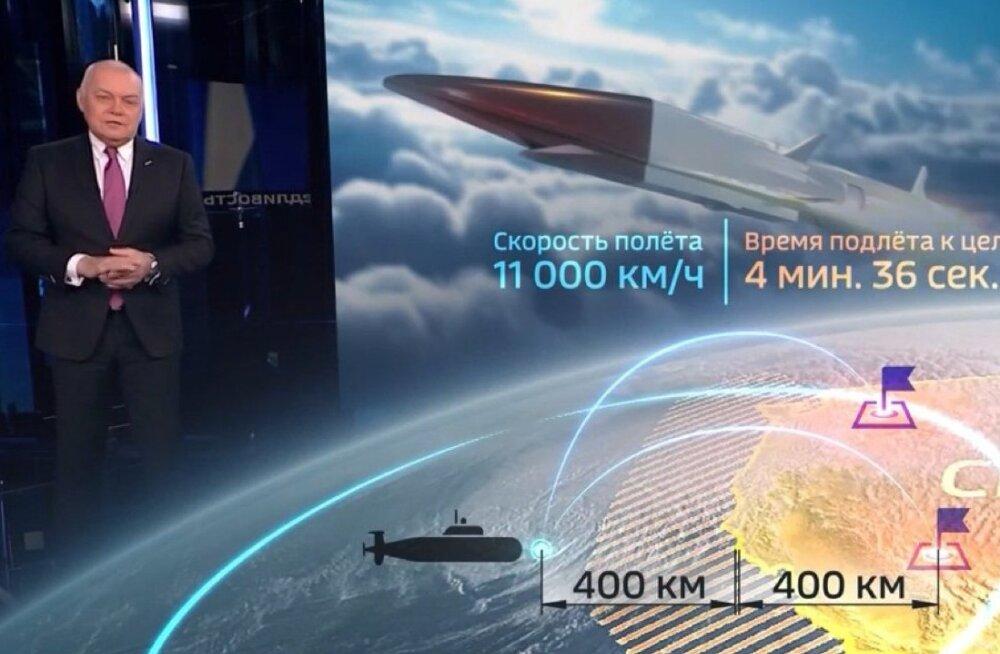 """""""Мокрого места не останется"""". Российские телеканалы показали, куда надо нацелить ракеты, о которых говорил Путин, но ошиблись в расчетах"""