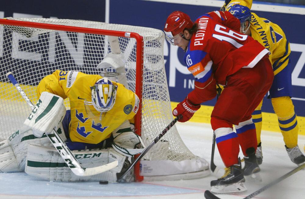 Venemaa lõi Rootsit ja jõudis hoki MMil poolfinaali