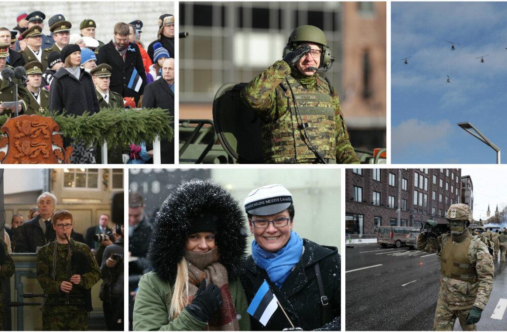 OTSEBLOGI: Eesti tähistab sünnipäeva – Pika Hermanni torni kerkis sinimustvalge, paraadist võttis osa üle tuhande sõjaväelase