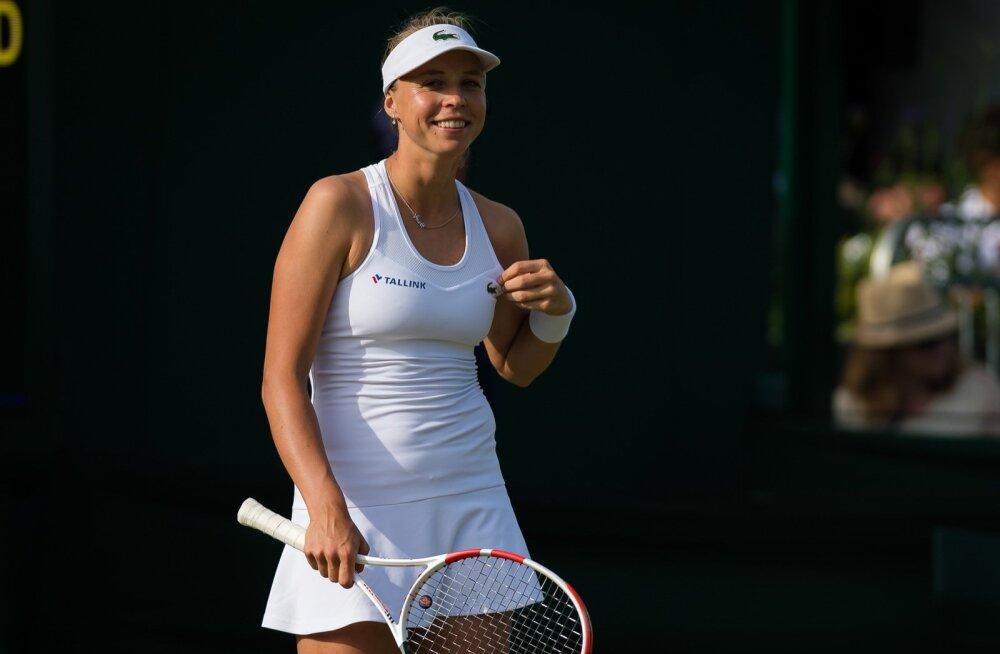 Anett Kontaveit tänavu Wimbledonis.