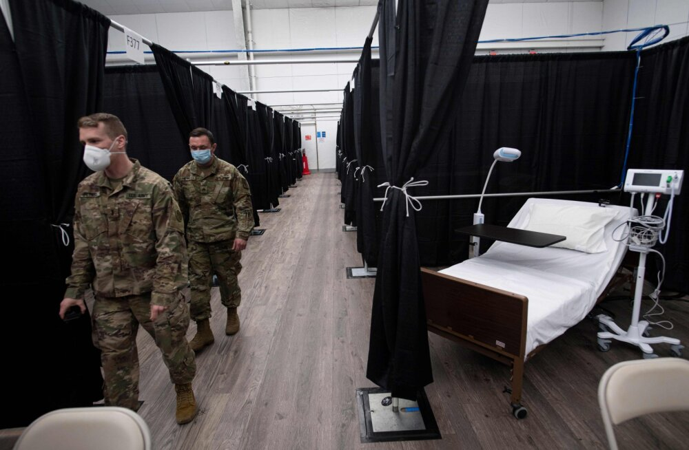 US Openi tennisekompleksi rajati 470 voodiga välihaigla, esimesed patsiendid juba sees