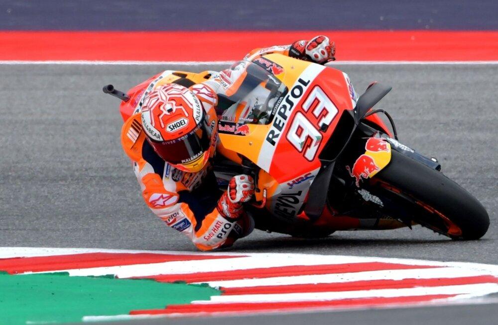 Marc Marquez võistlusrajal